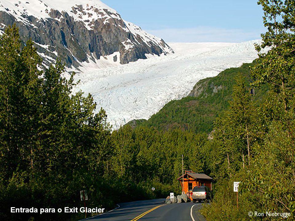 Entrada para o Exit Glacier