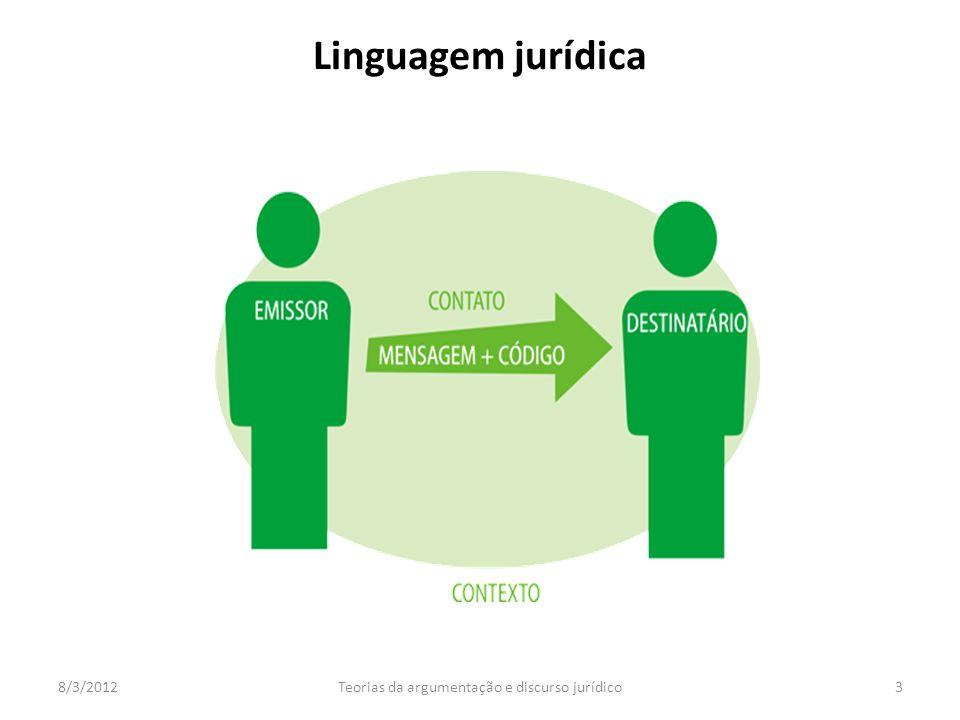 Teorias da argumentação e discurso jurídico