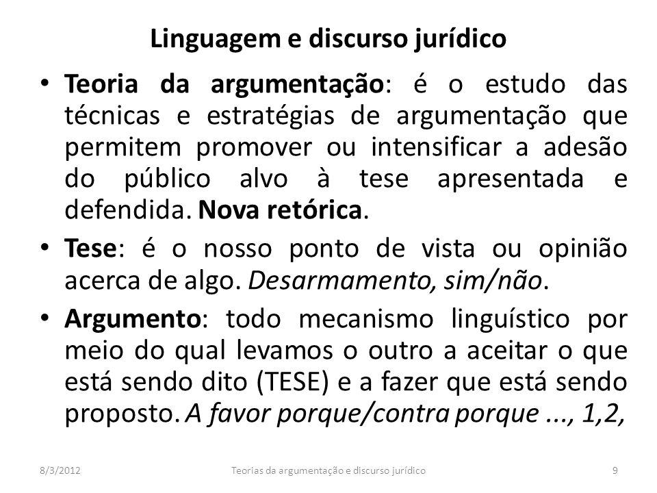 Linguagem e discurso jurídico