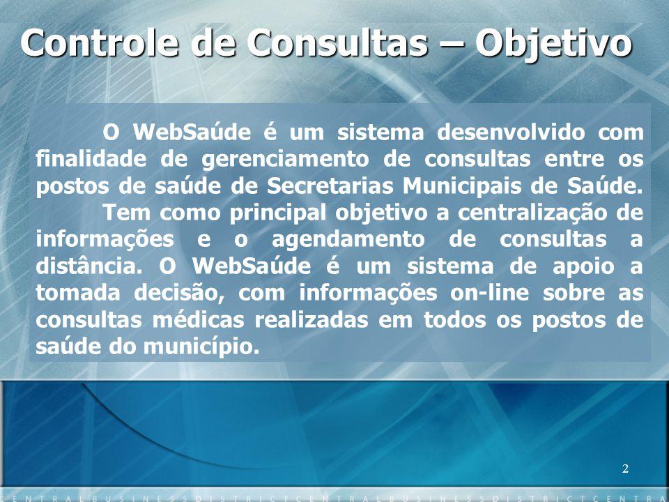 Controle de Consultas – Objetivo