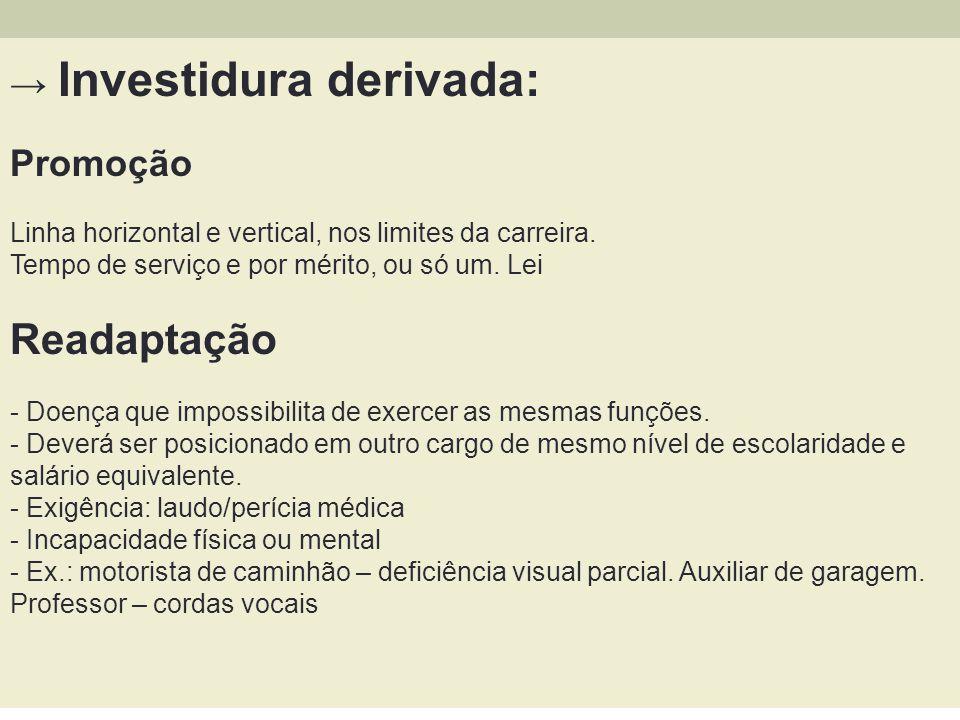Readaptação → Investidura derivada: Promoção