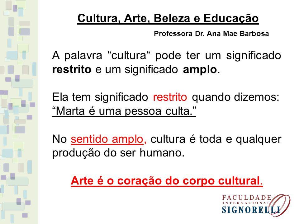 Professora Dr. Ana Mae Barbosa