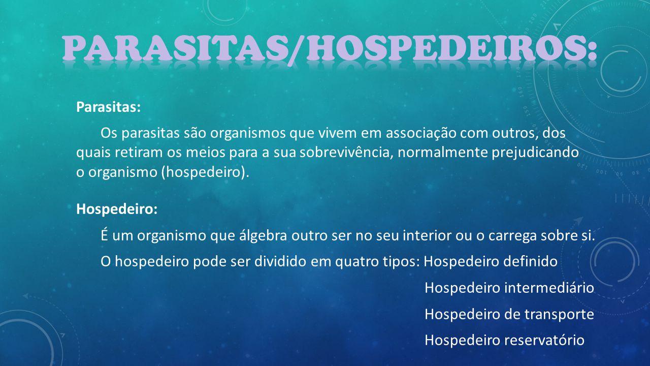Parasitas/Hospedeiros:
