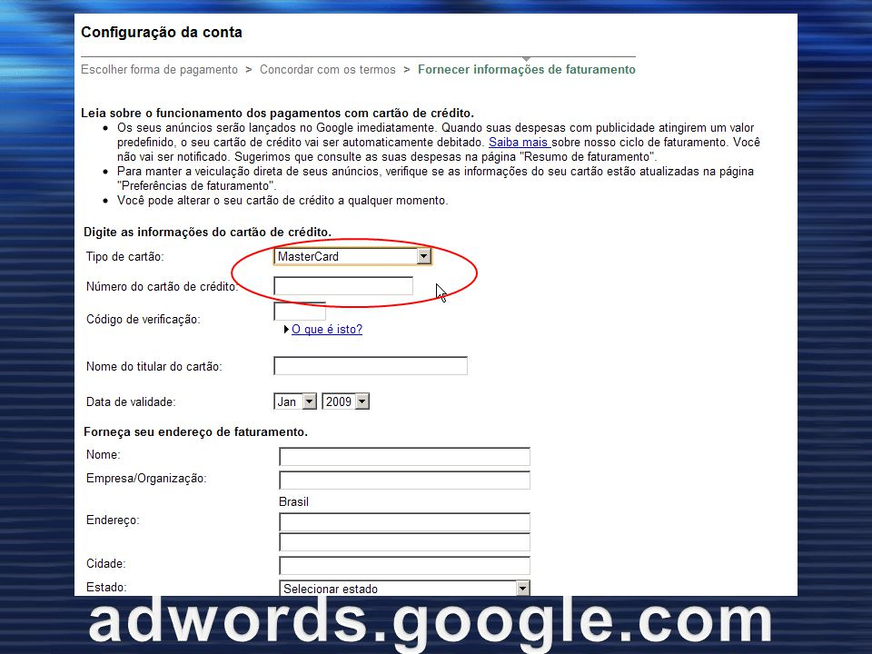 Google Adwords adwords.google.com