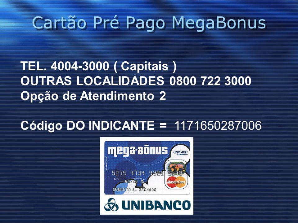 Cartão Pré Pago MegaBonus