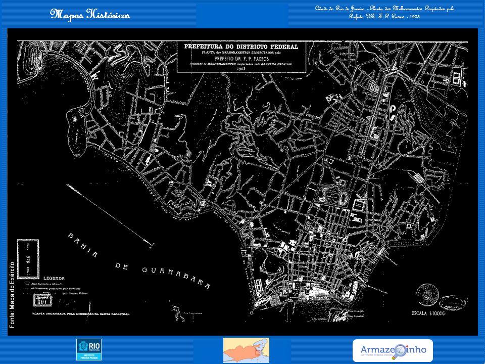 Cidade do Rio de Janeiro - Planta dos Melhoramentos Projetados pelo