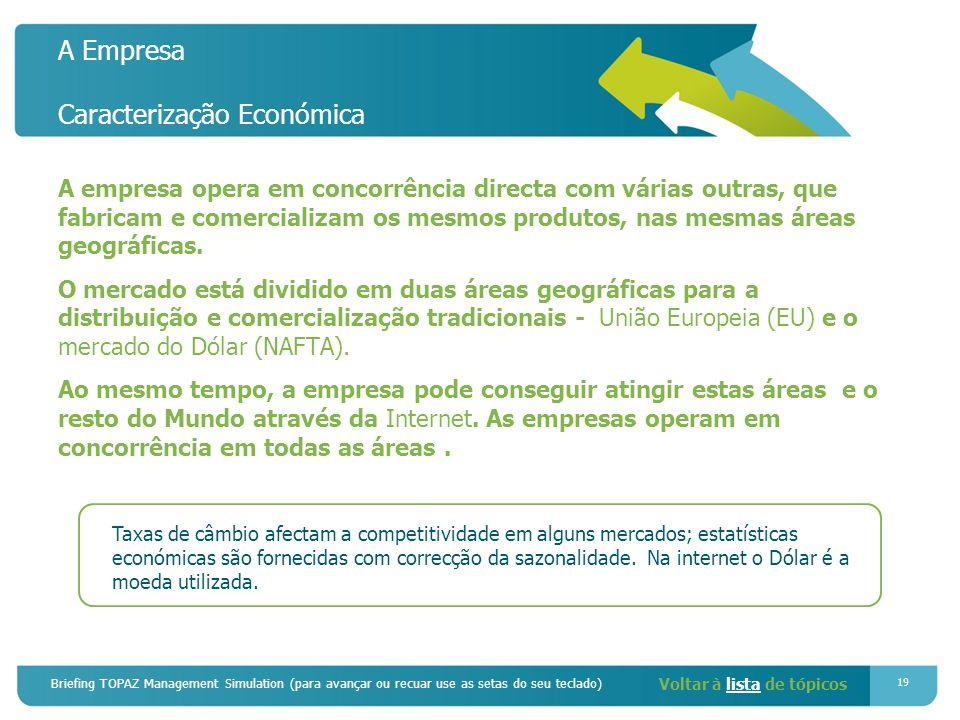 A Empresa Caracterização Económica