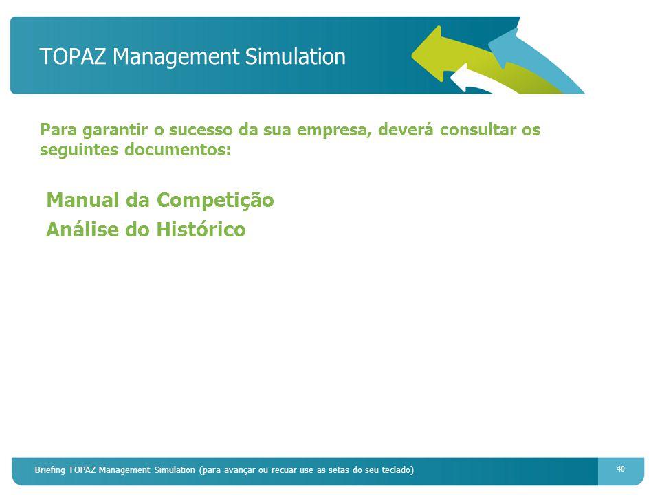 TOPAZ Management Simulation