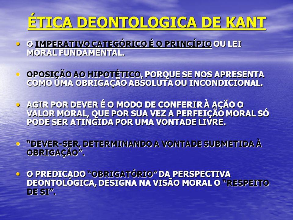 ÉTICA DEONTOLOGICA DE KANT