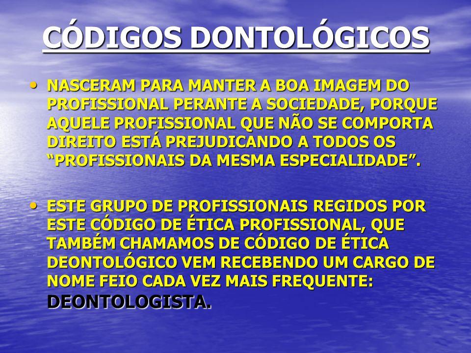 CÓDIGOS DONTOLÓGICOS