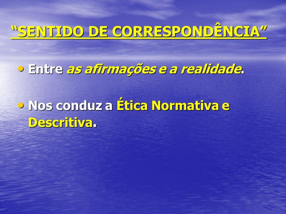 SENTIDO DE CORRESPONDÊNCIA