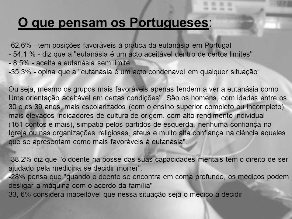O que pensam os Portugueses: