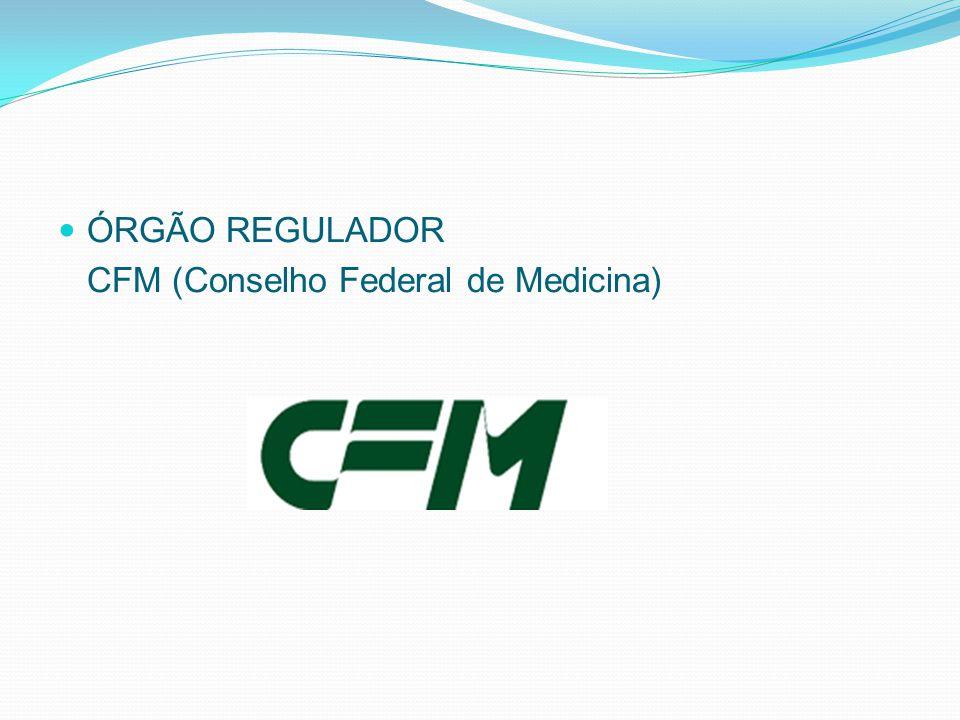 ÓRGÃO REGULADOR CFM (Conselho Federal de Medicina)