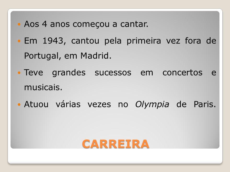 CARREIRA Aos 4 anos começou a cantar.