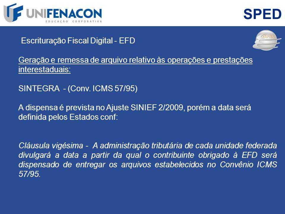 SPED Escrituração Fiscal Digital - EFD