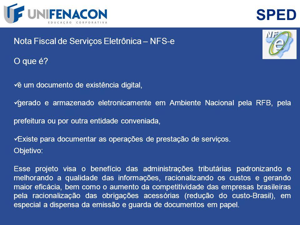 SPED Nota Fiscal de Serviços Eletrônica – NFS-e O que é