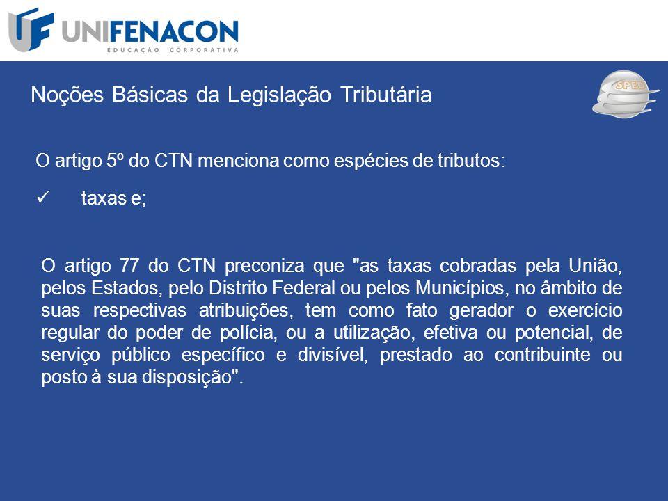 SPED Noções Básicas da Legislação Tributária