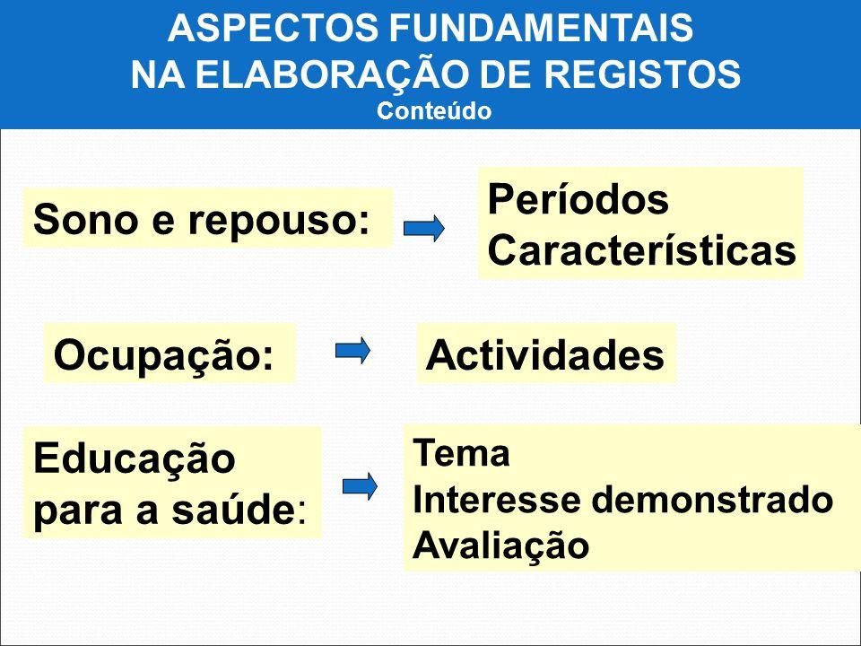 ASPECTOS FUNDAMENTAIS NA ELABORAÇÃO DE REGISTOS
