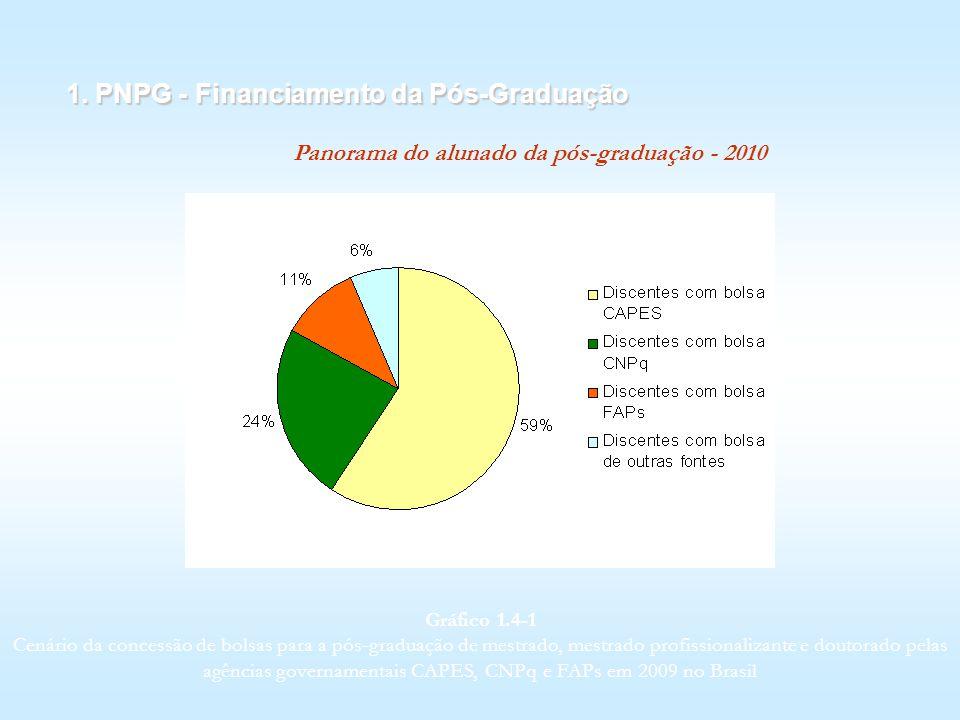Panorama do alunado da pós-graduação - 2010