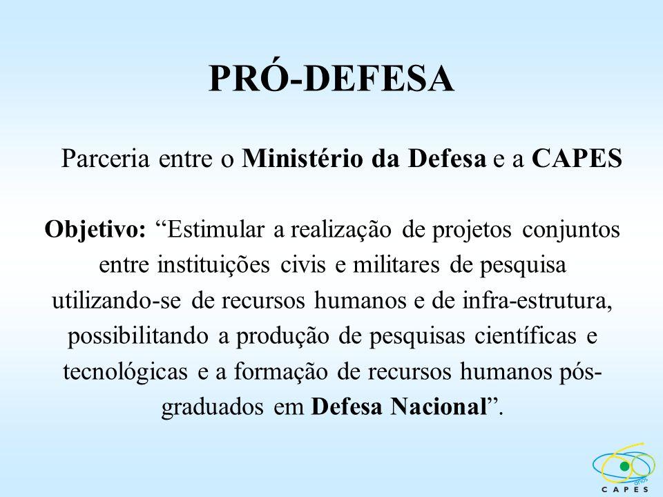 Parceria entre o Ministério da Defesa e a CAPES