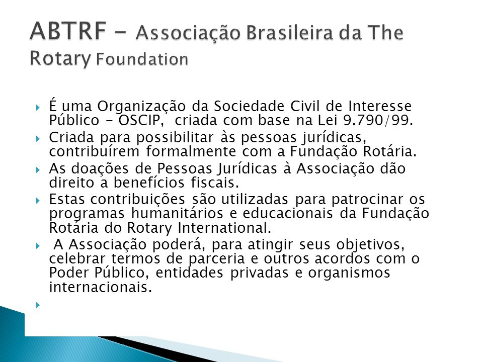 ABTRF - Associação Brasileira da The Rotary Foundation