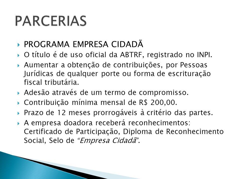 PARCERIAS PROGRAMA EMPRESA CIDADÃ