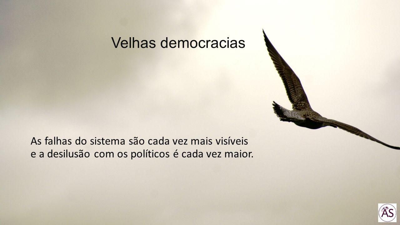 Velhas democracias As falhas do sistema são cada vez mais visíveis e a desilusão com os políticos é cada vez maior.