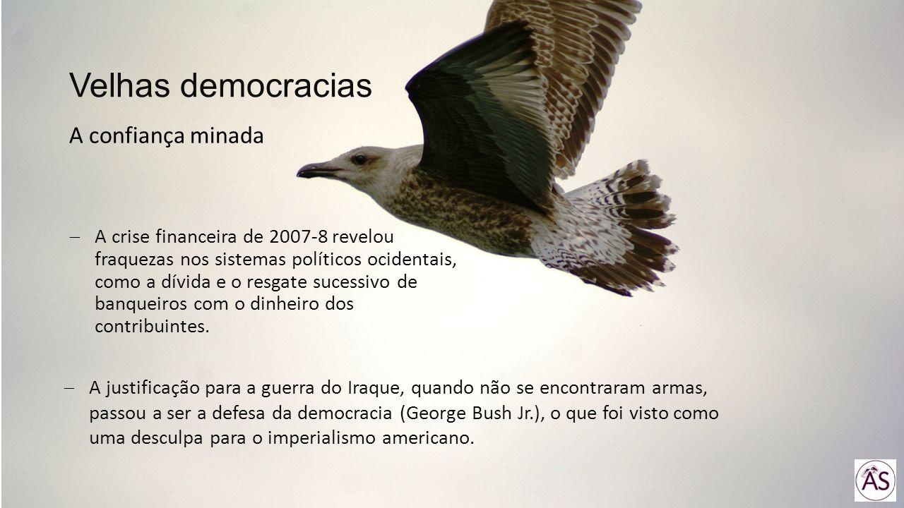 Velhas democracias A confiança minada