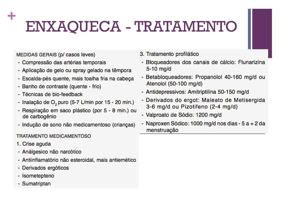 ENXAQUECA - TRATAMENTO