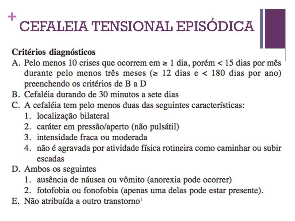 CEFALEIA TENSIONAL EPISÓDICA