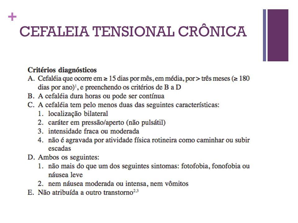 CEFALEIA TENSIONAL CRÔNICA