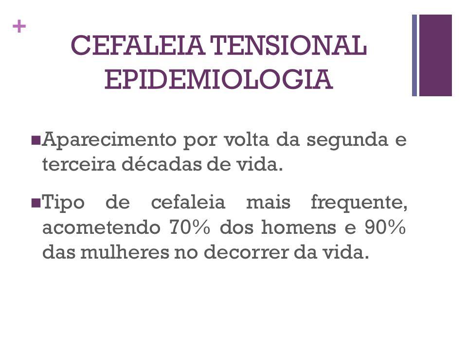 CEFALEIA TENSIONAL EPIDEMIOLOGIA
