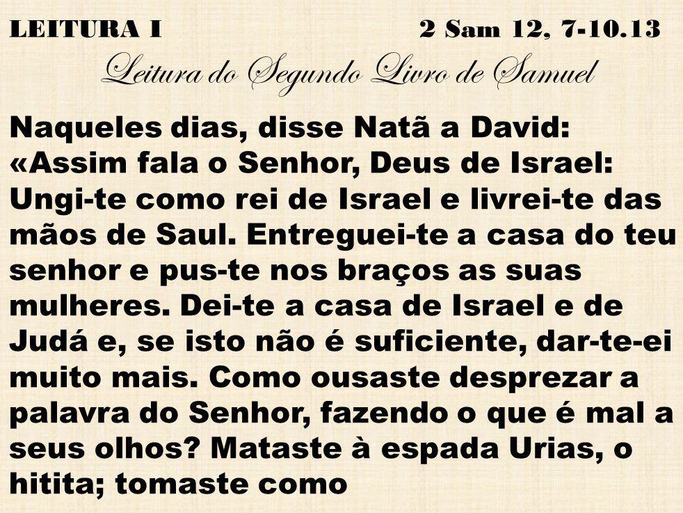 Leitura do Segundo Livro de Samuel