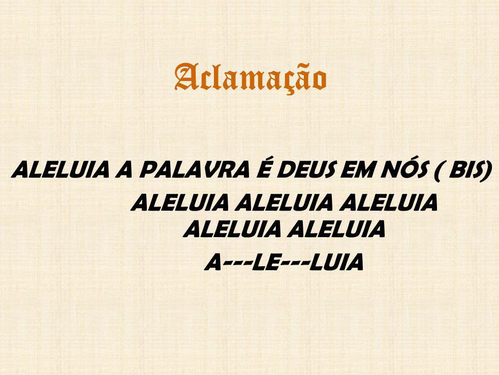 Aclamação ALELUIA A PALAVRA É DEUS EM NÓS ( BIS)