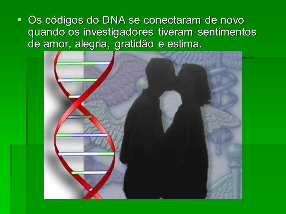 Os códigos do DNA se conectaram de novo quando os investigadores tiveram sentimentos de amor, alegria, gratidão e estima.