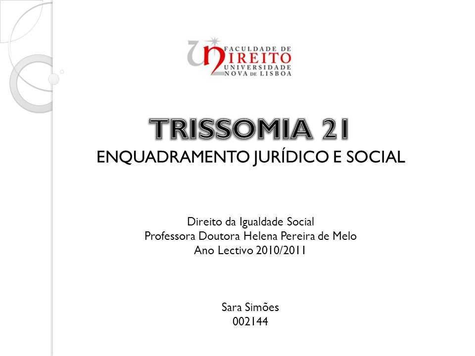 ENQUADRAMENTO JURÍDICO E SOCIAL