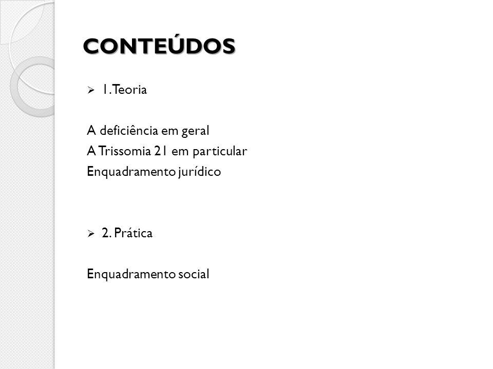 CONTEÚDOS 1. Teoria A deficiência em geral