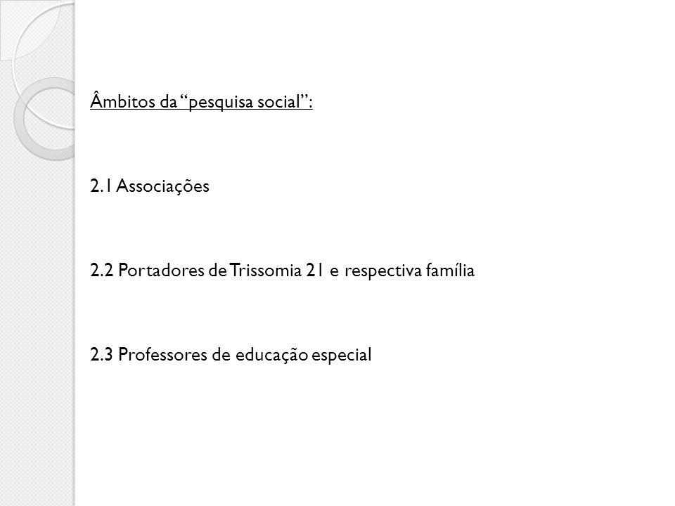 Âmbitos da pesquisa social :