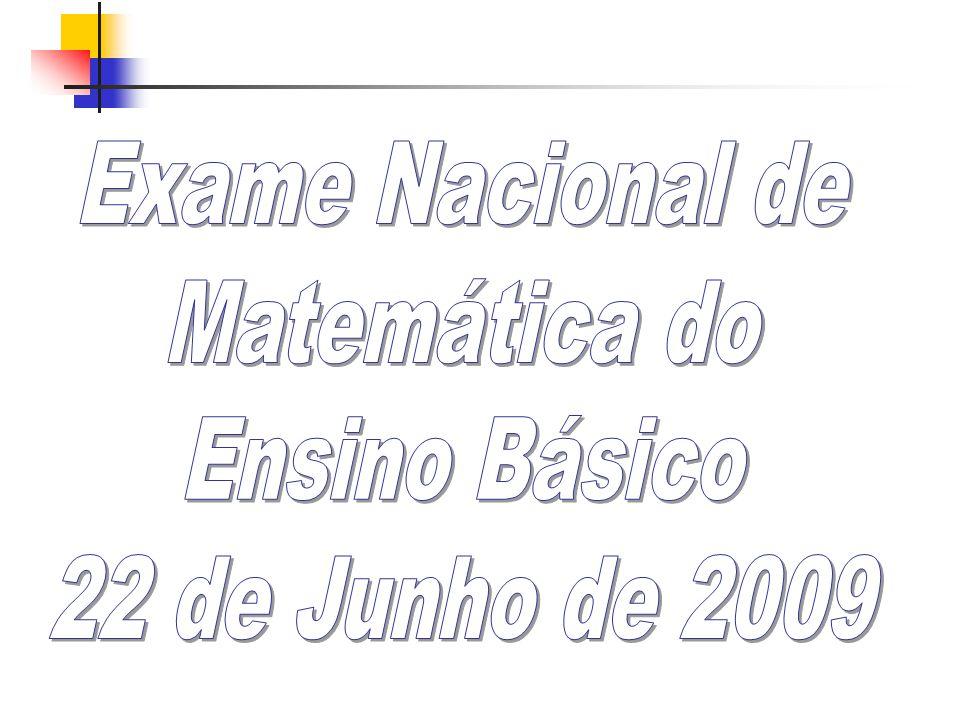 Exame Nacional de Matemática do Ensino Básico 22 de Junho de 2009