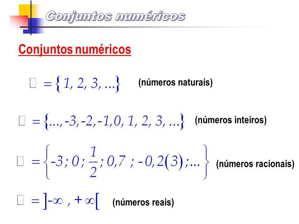 Conjuntos numéricos Conjuntos numéricos (números naturais)