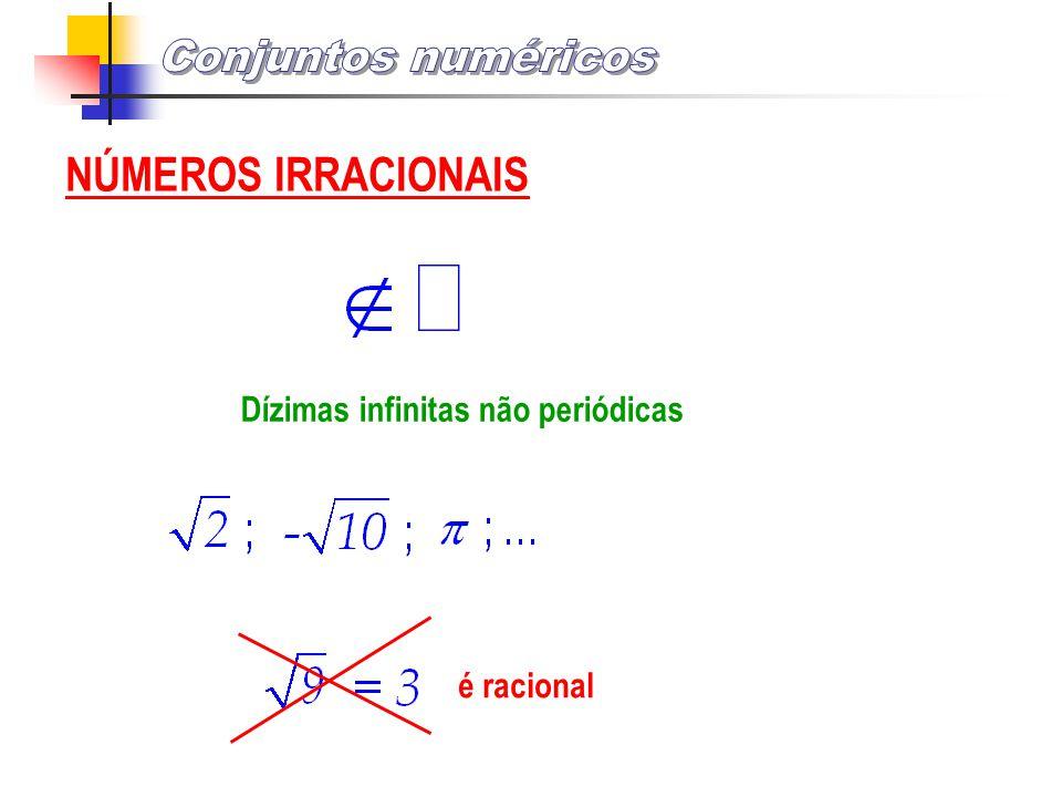 Conjuntos numéricos NÚMEROS IRRACIONAIS
