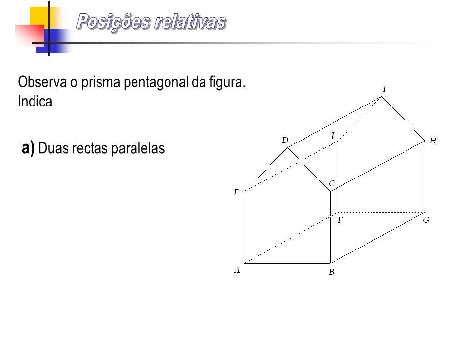 Posições relativas a) Duas rectas paralelas