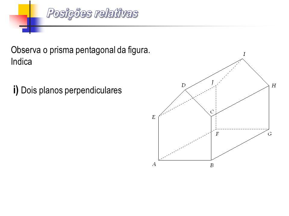 Posições relativas i) Dois planos perpendiculares