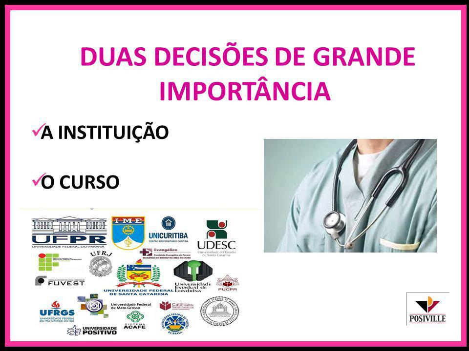 DUAS DECISÕES DE GRANDE IMPORTÂNCIA