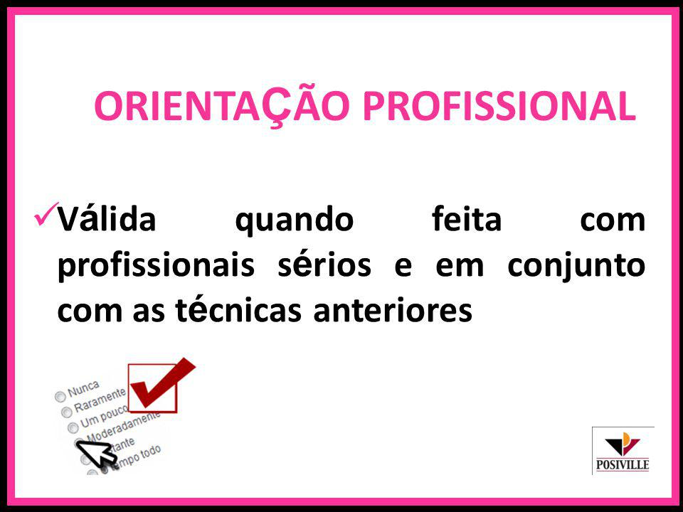 ORIENTAÇÃO PROFISSIONAL