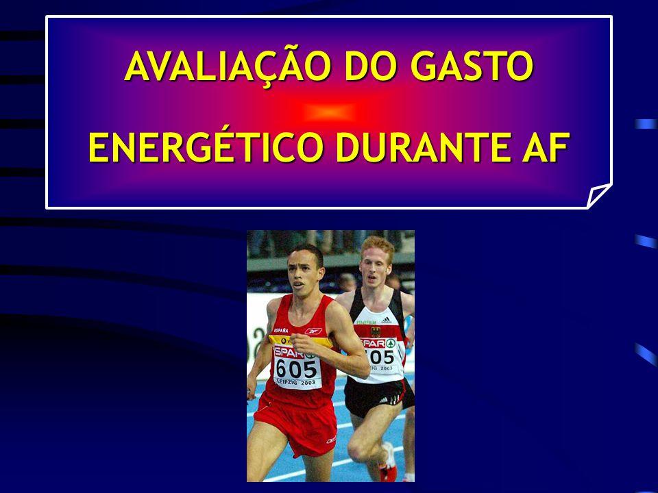 AVALIAÇÃO DO GASTO ENERGÉTICO DURANTE AF