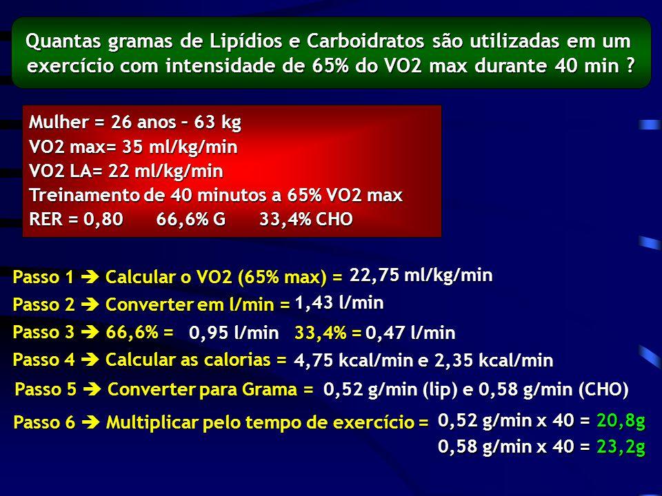 Quantas gramas de Lipídios e Carboidratos são utilizadas em um