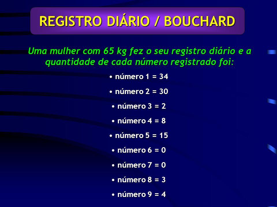 REGISTRO DIÁRIO / BOUCHARD