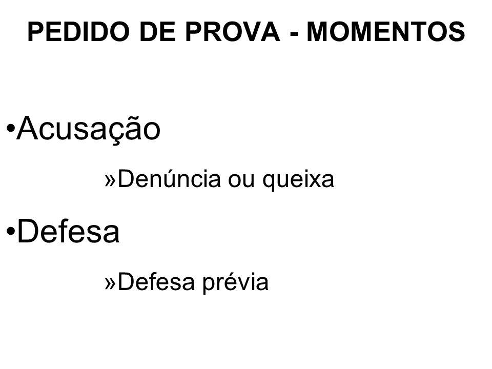 PEDIDO DE PROVA - MOMENTOS