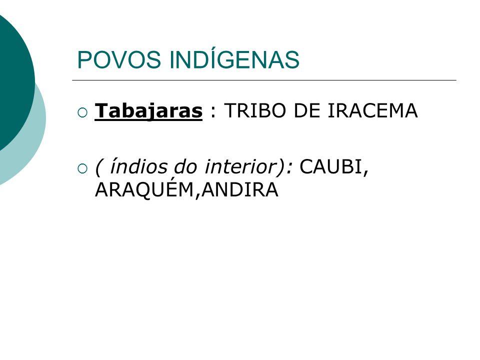 POVOS INDÍGENAS Tabajaras : TRIBO DE IRACEMA